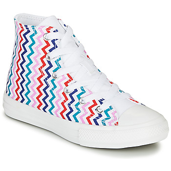 Chaussures Fille Baskets montantes Converse CHUCK TAYLOR ALL STAR VLTG - HI White / Blue / Red