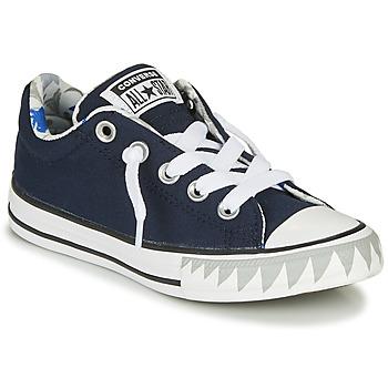 Chaussures Garçon Baskets basses Converse CHUCK TAYLOR ALL STAR STREET SHARK BITE SLIP-ON - SLIP Navy