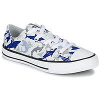 Chaussures Garçon Baskets basses Converse CHUCK TAYLOR ALL STAR SHARK BITE - OX White / Blue