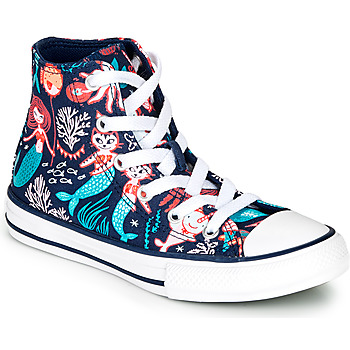 Chaussures Fille Baskets montantes Converse Chuck Taylor All Star Underwater Party Bleu