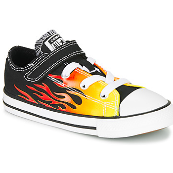 Chaussures Fille Baskets basses Converse CHUCK TAYLOR ALL STAR 1V - OX Black / Yellow