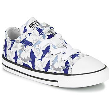 Chaussures Garçon Baskets basses Converse CHUCK TAYLOR ALL STAR 1V SHARK BITE - OX Blue / White