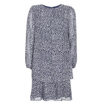 Vêtements Femme Robes courtes Lauren Ralph Lauren Alois Marine / Blanc