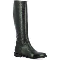 Chaussures Femme Bottes ville Pao Bottes cuir serpent Noir
