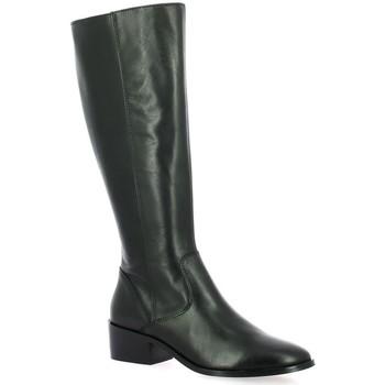 Chaussures Femme Bottes ville Impact Bottes cuir Noir