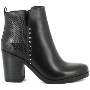 Chaussures Femme Bottines Ilario Ferucci Bottine à  talon LEA Noir