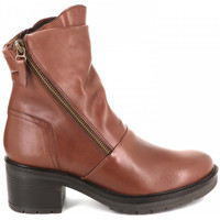 Chaussures Femme Bottines Ilario Ferucci Bottine à  talon LARISA Camel