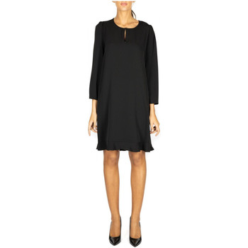Vêtements Femme Robes courtes Le Coeur ABITO M/L IN TWILL FLUIDO 00006-nero