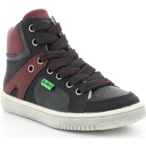 Chaussures Enfant Baskets montantes Kickers 739350 noir