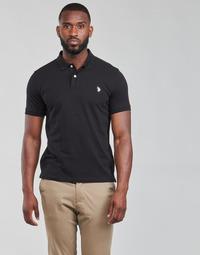 Vêtements Homme Polos manches courtes U.S Polo Assn. INSTITUTIONAL POLO Noir