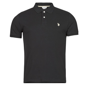 Vêtements Homme Polos manches courtes U.S Polo Assn. INSTITUTIONAL POLO Noir