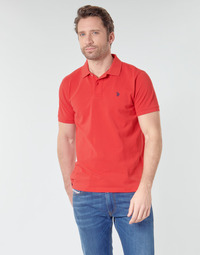 Vêtements Homme Polos manches courtes U.S Polo Assn. INSTITUTIONAL POLO Rouge