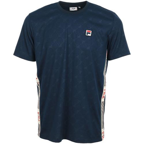 Vêtements Homme T-shirts manches courtes Fila Nariman Aop Tee bleu