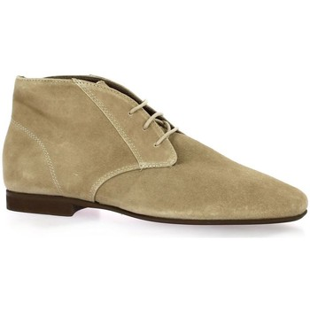 Chaussures Femme Boots Reqin's Boots cuir velours Taupe