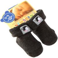 Accessoires Enfant Chaussettes Intersocks Chaussettes Bottons - Coton - New Born Gris foncé