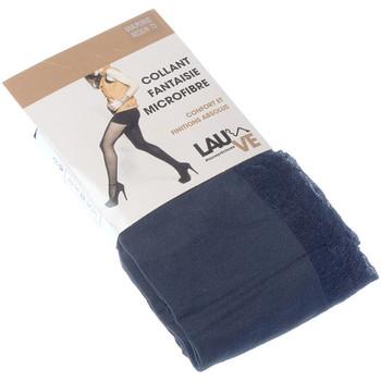 Sous-vêtements Femme Collants & bas Lauve Collant chaud - Semi opaque - Précieuse Bleu marine