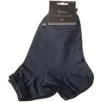 Accessoires Homme Chaussettes Bjm Chaussettes Basses - Coton Bleu marine
