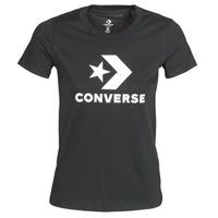 Vêtements Femme T-shirts manches courtes Converse STAR CHEVRON TEE Noir