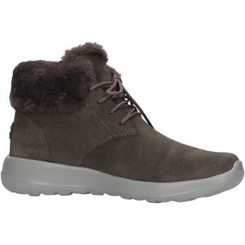 Chaussures Femme Bottes de neige Skechers - Lace up bootie grigio 15506 CHAR GRIGIO