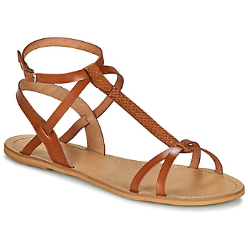 Chaussures Femme Sandales et Nu-pieds So Size BEALO camel