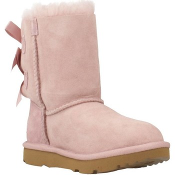 Chaussures Fille Bottes de neige UGG BAILEY BOW II Rose