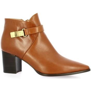 Chaussures Femme Bottines Brenda Zaro Boots cuir Cognac