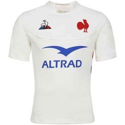 Vêtements Homme T-shirts & Polos Le Coq Sportif Maillot rugby XV de France, ré Blanc