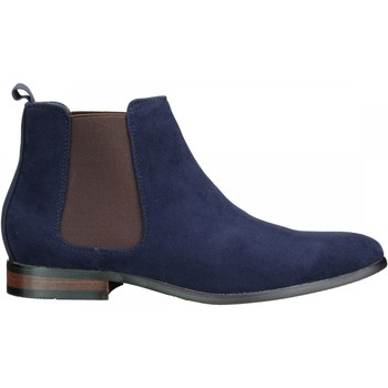 Chaussures Homme Boots Uomo Bottine habillées Bleu