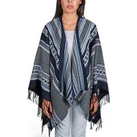 Vêtements Femme Pulls Qualicoq Poncho Satya - Couleur - Gris - Fabriqué en France Gris