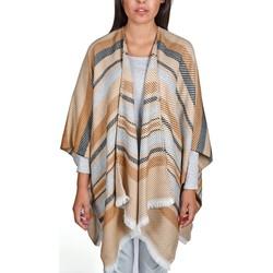 Vêtements Femme Pulls Qualicoq Poncho Visala - Couleur - Beige - Fabriqué en France Beige