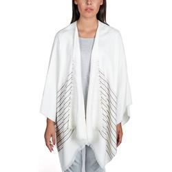 Vêtements Femme Pulls Qualicoq Poncho Mina - Couleur - Blanc - Fabriqué en France Blanc