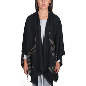 Vêtements Femme Pulls Qualicoq Poncho Mina - Couleur - Noir - Fabriqué en France Noir