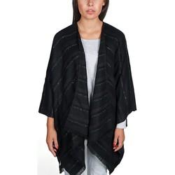 Vêtements Femme Pulls Qualicoq Poncho Manta - Couleur - Noir - Fabriqué en France Noir