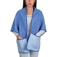 Accessoires textile Femme Echarpes / Etoles / Foulards Qualicoq Châle à poches Lima Bleu