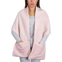 Accessoires textile Femme Echarpes / Etoles / Foulards Qualicoq Châle à poches Lima - Couleur - Rose - Fabriqué en France Rose