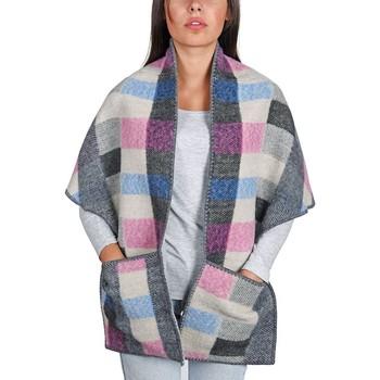 Accessoires textile Femme Echarpes / Etoles / Foulards Qualicoq Châle à poches Talma - Couleur - Gris - Fabriqué en France Gris