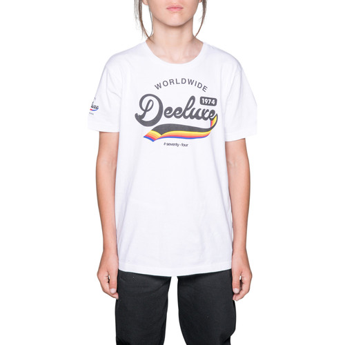 Vêtements Fille T-shirts manches courtes Deeluxe T-Shirt TAKI White