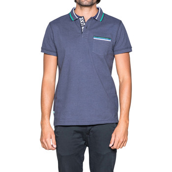 Vêtements Homme Polos manches courtes Deeluxe Polo DITMAS Navy