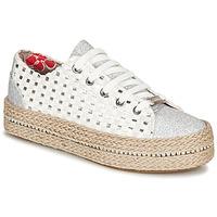 Chaussures Femme Baskets basses Café Noir MERYOU Blanc / Argent