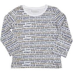 Vêtements Garçon T-shirts & Polos Interdit De Me Gronder LOOK Blanc