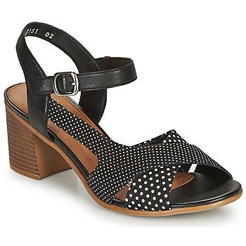 Chaussures Femme Sandales et Nu-pieds Remonte Dorndorf MOSKI Noir / Blanc