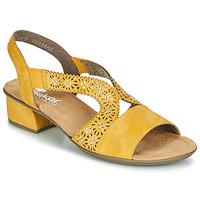 Chaussures Femme Sandales et Nu-pieds Rieker NOUCK Jaune