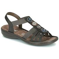 Chaussures Femme Sandales et Nu-pieds Rieker ANOUCK Noir