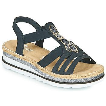 Chaussures Femme Sandales et Nu-pieds Rieker LOUANN Noir