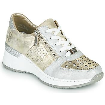 Chaussures Femme Baskets basses Rieker LEA Doré / Argenté