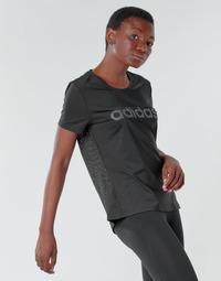 Vêtements Femme T-shirts manches courtes adidas Performance D2M LO TEE Noir