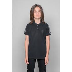 Vêtements Garçon Polos manches courtes Deeluxe Polo UMBERTO Black