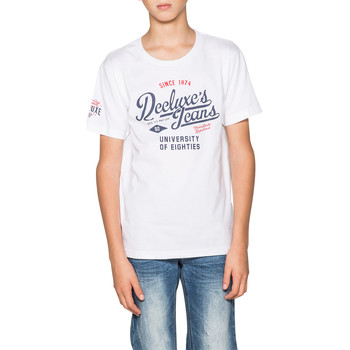 Vêtements Garçon T-shirts manches courtes Deeluxe T-Shirt EIGHTIES White