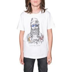 Vêtements Garçon T-shirts manches courtes Deeluxe T-Shirt TELLIER Natural