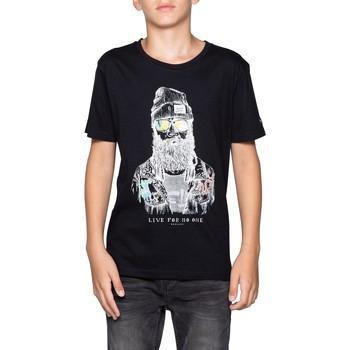 Vêtements Garçon T-shirts & Polos Deeluxe T-Shirt TELLIER Black
